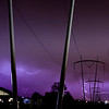 Composite of Multiple Lightning Strikes Over the Fermilab External Beam Lines.  Fermilab, 2011
